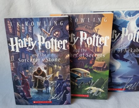 10: Three HP Books signed by Kazu Kibuishi cover artist