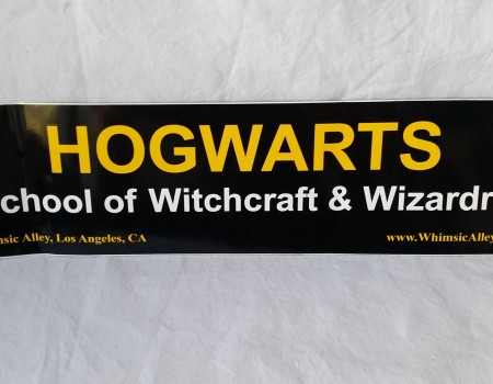 8: Hogwarts Bumper Sticker